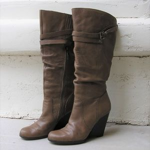 Guess Mally Knee-High Wedge Boots